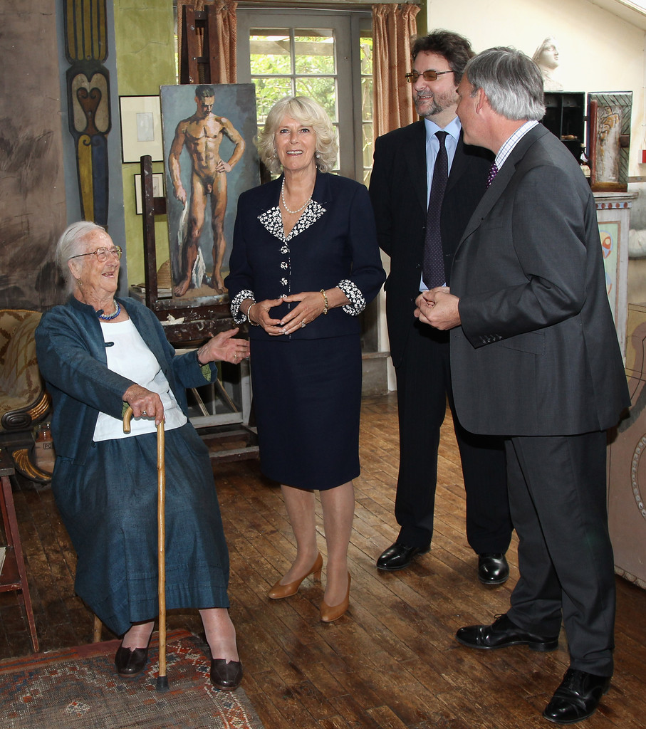 Anne Olivier Bell In The Duchess Of Cornwall Visits East