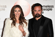 Elizabeth Hurley and Evgeny Lebedev attend Centrepoint At The Palace at Kensington Palace on November 10, 2016 in London, England.