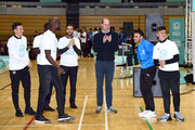 Prince William, Duke of Cambridge attends the graduation ceremony of 30 Young Peace Leaders from Football for Peace's UK City for Peace programme at Copper Box Arena on November 22, 2018 in London, England.