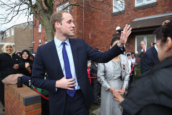 Prince William, Duke of Cambridge waves as he leaves St Basil's Charity project on November 29, 2013 in Birmingham, England. St Basil's is a Youth Homeless charity supported by Centrepoint, the homeless charity of which Prince William is Patron.