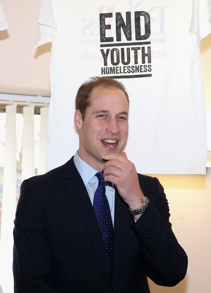 Prince William, Duke of Cambridge meets  young people at St Basil's Charity project on November 29, 2013 in Birmingham, England. St Basil's is a Youth Homeless charity supported by Centrepoint, the homeless charity of which Prince William is Patron.