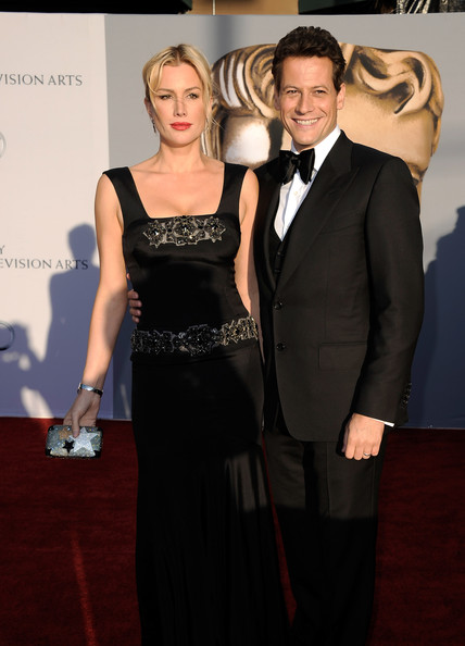 Alice Evans (L) and actor Ioan Gruffudd arrive at the BAFTA Brits To Watch event held at the Belasco Theatre on July 9, 2011 in Los Angeles, California.