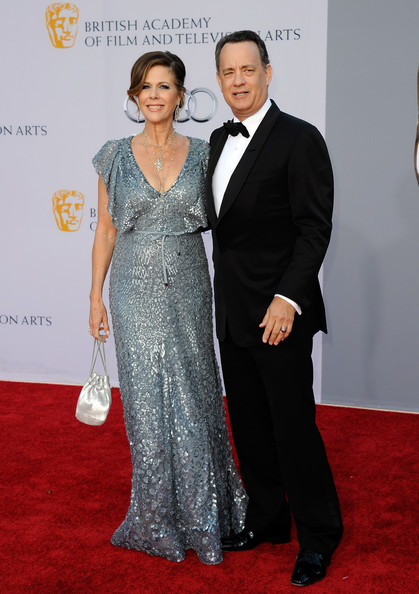 Actress Rita Wilson (L) and actor Tom Hanks arrive at the BAFTA Brits To Watch event held at the Belasco Theatre on July 9, 2011 in Los Angeles, California.