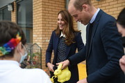 Prince William, Duke of Cambridge and Catherine, Duchess of Cambridge take part in a gardening session during a visit to The Way Youth Zone on May 13, 2021 in Wolverhampton, England.