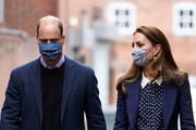 Prince William, Duke of Cambridge and Catherine, Duchess of Cambridge visit Base25 to mark mental health awareness week on May 13, 2021 in Wolverhampton, England.