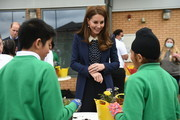 Catherine, Duchess of Cambridge during a visit to The Way Youth Zone on May 13, 2021 in Wolverhampton, England.