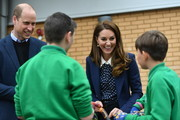 Prince William, Duke of Cambridge and Catherine, Duchess of Cambridge visit The Way Youth Zone on May 13, 2021 in Wolverhampton, England.