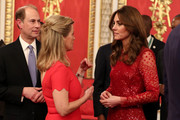 Prince Edward, Earl of Wessex and Sophie, Countess of Wessex speak to Catherine, Duchess of Cambridge during a reception to mark the UK-Africa Investment Summit at Buckingham Palace on January 20, 2020 in London, England.