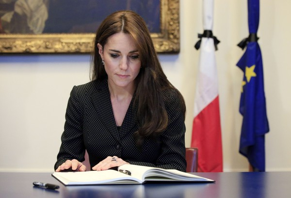 The Duke and Duchess of Cambridge Sign Book of Condolences