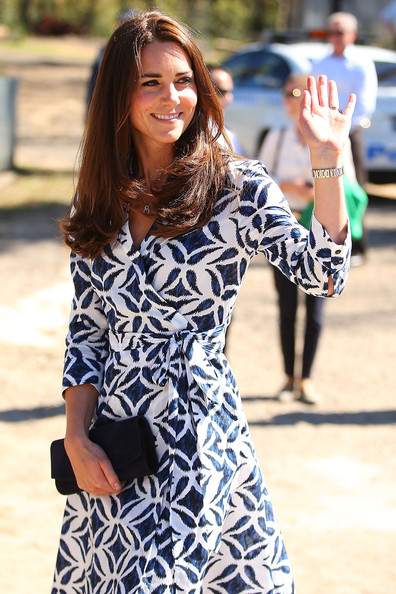 Catherine, Duchess of Cambridge arrives at the Winmalee Guide Hall on April 17, 2014 in Winmalee, Australia. The Duke and Duchess of Cambridge are on a three-week tour of Australia and New Zealand, the first official trip overseas with their son, Prince George of Cambridge.