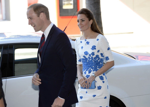 Prince William, Duke of Cambridge and   Catherine, Duchess of Cambridge meet with dignatries before a formal reception at the Brisbane Convention Centre on April 19, 2014 in Brisbane, Australia. The Duke and Duchess of Cambridge are on a three-week tour of Australia and New Zealand, the first official trip overseas with their son, Prince George of Cambridge.