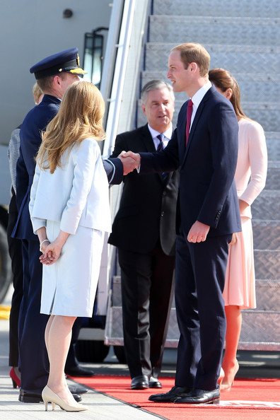 Prince William, Duke of Cambridge arrives at RAFF Base Edinburgh on April 23, 2014 in Adelaide, Australia. The Duke and Duchess of Cambridge are on a three-week tour of Australia and New Zealand, the first official trip overseas with their son, Prince George of Cambridge.