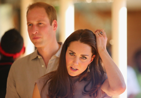 Catherine, Duchess of Cambridge and Prince William, Duke of Cambridge arive at the National Indigenous Training Academy on April 22, 2014 in Ayers Rock, Australia. The Duke and Duchess of Cambridge are on a three-week tour of Australia and New Zealand, the first official trip overseas with their son, Prince George of Cambridge.