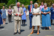 Prince Charles, The Duke of Cornwall and Camilla, Duchess of Cornwall visit St Austell Healthcare, the Wheal Northey Centre, to recognise and thank staff for their efforts during Covid-19 pandemic on July 21, 2020 in St Austell, England.