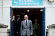 Britain's Prince Philip, Duke of Edinburgh visits the Windsor Sea Cadet Unit on April 7, 2014 in in Windsor, England. T.S Windsor Castle is the oldest unit in the Sea Cadet Corps, established in 1899 as a way to provide a small training vessel on the river at Windsor.