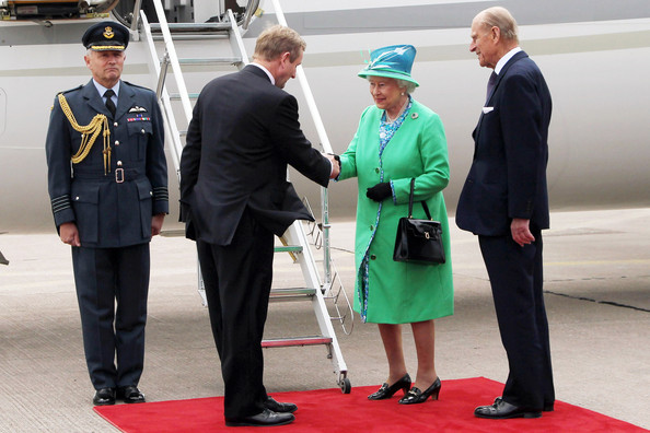 Duke of Edinburgh Taoiseach (Prime Minister) Enda Kenny bids Queen Elizabeth II and Prince Philip, Duke of Edinburgh farewell before they board a plane to depart Cork Airport on May 20, 2011 in Cork, Ireland. Queen Elizabeth II and Prince Philip, Duke of Edinburgh are on the final day of their historic four-day tour of the Republic of Ireland amid tight security, the first visit to Ireland by a British monarch since 1911.