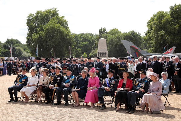 Members Of The Royal Family Attend Events To Mark The Centenary Of The RAF [the royal family attend events to mark the centenary of the raf,people,crowd,event,audience,tourism,tree,recreation,ceremony,leisure,festival,anne,members,michael,edward,richard,alexandra,duke,l-r,gloucester]