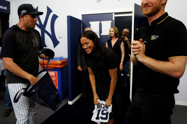 The Duke Of Sussex Attends The Boston Red Sox VS New York Yankees Baseball Game