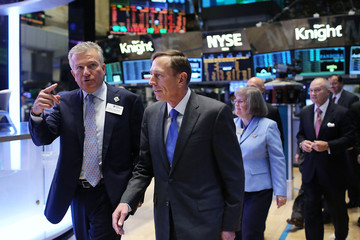 Duncan L. Niederauer CIA Director David Petraeus Rings The Opening Bell At The New York Stock Exchange