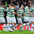 Kris Commons Leigh Griffiths Photos - Kris Commons of Celtic celebrates scoring the opening goal with Leigh Griffiths and Emilio Izaguirre (L) during the Scottish League Cup Final between Dundee United and Celtic at Hampden Park on March 15, 2015 in Glasgow, Scotland. - Dundee United v Celtic - Scottish League Cup Final