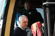 Dundee United manager Ray McKinnon arrives at the stadium prior to the Irn-Bru Cup Final between Dundee United and St Mirren at Fir Park on March 25, 2017 in Motherwell, Scotland.