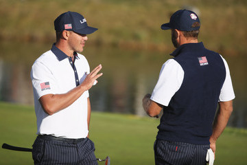 Dustin Johnson Brooks Koepka 2018 Ryder Cup - Afternoon Foursome Matches