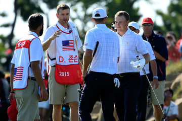 Dustin Johnson Jordan Spieth The Presidents Cup - Round One