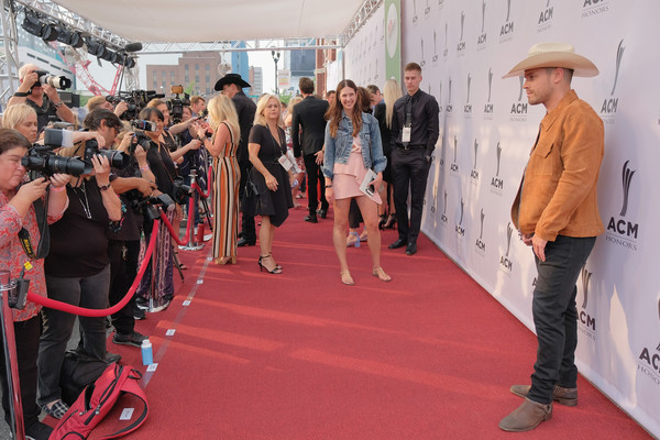 12th Annual ACM Honors - Red Carpet [red carpet,red,fashion,flooring,carpet,event,fun,crowd,premiere,performance,acm honors - red carpet,acm honors,ryman auditorium,nashville,tennessee,dustin lynch]