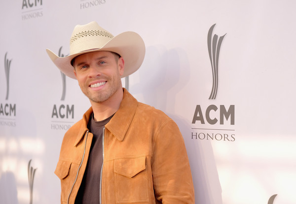 12th Annual ACM Honors - Red Carpet [yellow,cowboy hat,hat,headgear,fashion accessory,fedora,acm honors - red carpet,acm honors,ryman auditorium,nashville,tennessee,dustin lynch]