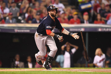 Dustin Pedroia Division Series - Boston Red Sox v Cleveland Indians - Game One