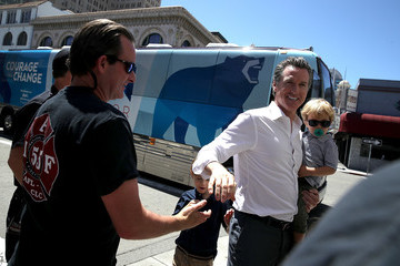 Dutch Newsom California Gubernatorial Candidate Gavin Newsom Campaigns In Oakland Ahead Of Tuesday's Primary