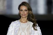 Model Almudena Fernandez walks the runway at the Duyos show during the Mercedes-Benz Madrid Fashion Week Autumn/Winter 2017 at Ifema on February 20, 2017 in Madrid, Spain.