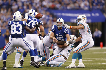 Dwayne Allen Andrew Luck Miami Dolphins v Indianapolis Colts