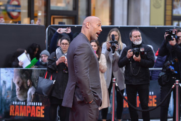 Dwayne Johnson 'Rampage' European Premiere - Red Carpet Arrivals