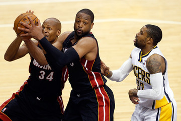 Dwyane Wade Ray Allen Miami Heat v Indiana Pacers