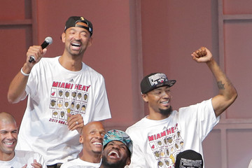 Dwyane Wade Ray Allen Miami Heat Celebrates Their Win with a Victory Parade