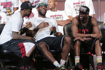 Dwyane Wade Udonis Haslem Miami Heat Celebrates Their Win with a Victory Parade