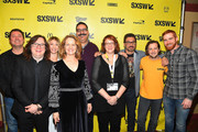 "(L-R) Doug Benson, Clark Duke, Melissa Leo, Ari Graynor, Erik Griffin, SXSW Film Festival Director Janet Pierson, Al Madrigal, Melissa Leo, Michael Angarano, and Andrew Santino attend the ""I'm Dying Up Here"" premiere 2017 SXSW Conference and Festivals on March 15, 2017 in Austin, Texas."