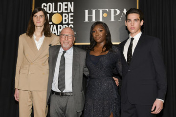 Dylan Brosnan Lorenzo Soria HFPA And THR Golden Globe Ambassador Party - Press Conference And Arrivals