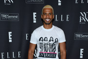 Eric West attends the E!, ELLE, and IMG NYFW kick-off party hosted by TRESemmé on September 04, 2019 in New York City.