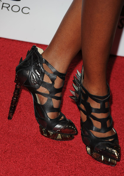 Kelly Rowland Cutout Booties