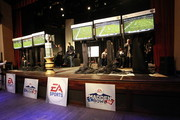 ESPN commentator Trey Wingo and Michelle Beadle host the EA Sports Madden Bowl XVII on February 3, 2011 in Grapevine, Texas.