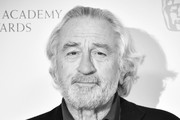 Image has been converted to black and white) Robert De Niro attends the EE British Academy Film Awards 2020 Nominees' Party at Kensington Palace on February 01, 2020 in London, England.