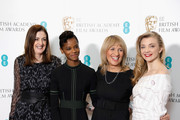 (L-R) Bafta Chief Executive, Amanda Berry, actress Letitia Wright, Bafta chairman Jane Lush and actress Natalie Dormer attend The EE British Academy Film Award, BAFTA, nominations announcement at BAFTA on January 9, 2018 in London, England.