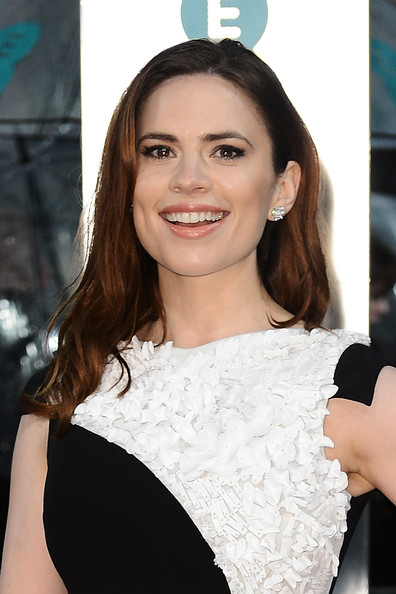 Hayley Atwell attends the EE British Academy Film Awards at The Royal Opera House on February 10, 2013 in London, England.