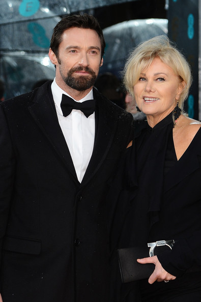 Hugh Jackman and Deborra-Lee Furness attend the EE British Academy Film Awards at The Royal Opera House on February 10, 2013 in London, England.