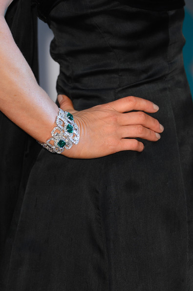 Emilia Fox (bracelets detail) attends the EE British Academy Film Awards at The Royal Opera House on February 10, 2013 in London, England.