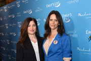 "(L-R) Kathryn Hahn and Amy Landecker attend EMILY's List Brunch and Panel Discussion ""Defining Women"" at Four Seasons Hotel Los Angeles at Beverly Hills on February 04, 2020 in Los Angeles, California."