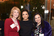 "(L-R) Wendy Davis, Eva Longoria, and Gloria Calderón Kellett attend EMILY's List Brunch and Panel Discussion ""Defining Women"" at Four Seasons Hotel Los Angeles at Beverly Hills on February 04, 2020 in Los Angeles, California."
