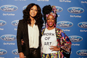 Keri Hilson and Melissa Mitchell at the ESSENCE + Ford My City 4 Ways - Houston  at White Oak Music Hall on December 01, 2018 in Houston, Texas.